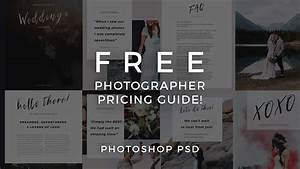 Photographer Pricing Guide Template  Free Photoshop Psd