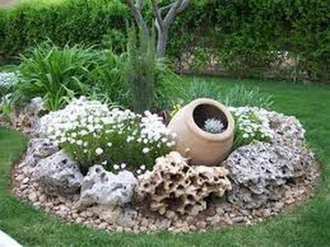 como decorar jardines  piedras youtube
