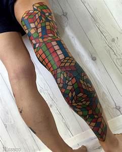 Rubik's Cube Leg Tattoo   Best tattoo ideas & designs