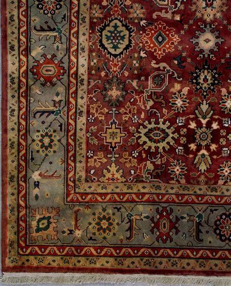 Wool Rugs by 10x13 Burgundy Green Agra Wool Area Rug Carpet Ebay
