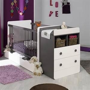 Lit bebe evolutif avec tiroir blanc taupe 70x140 for Robe de chambre enfant avec meradiso matelas 140x200