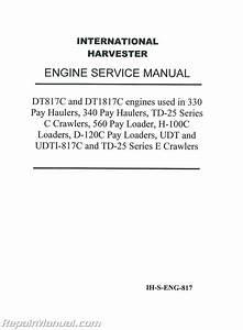International Harvester 784 Service Manual