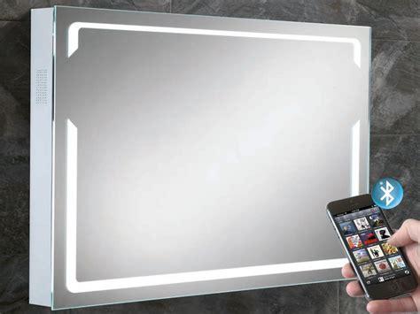 Bluetooth Bathroom Mirrors by Pulse Illuminated Bluetooth Bathroom Mirror With Built In