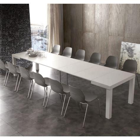 tavola da pranzo allungabile tavolo moderno aladin in legno bianco allungabile per cucina