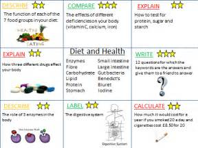Ks3 Diet And Health Revision Activities (new Ks3) By Hephelumps  Teaching Resources Tes