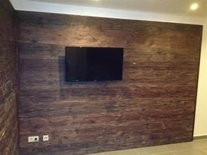 Wohnzimmer Wand Holz : wandverkleidung holz wohnzimmer ~ Lizthompson.info Haus und Dekorationen