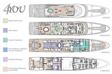 Yacht Plans by 4you 55m Charter Yacht By Amels Yachts By
