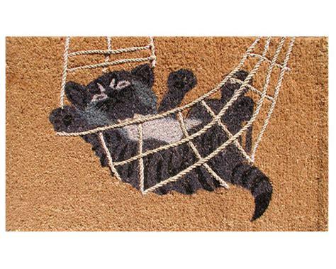 Decorative Doormats by Decorative Coir Doormat Playful Cat In Doormats