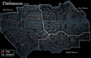 Assassin's Creed - Dalmascus has 100 flags and 10 templars.