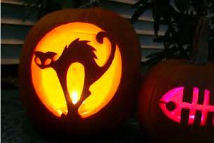 Scary Pumpkin Carving Patterns Cat