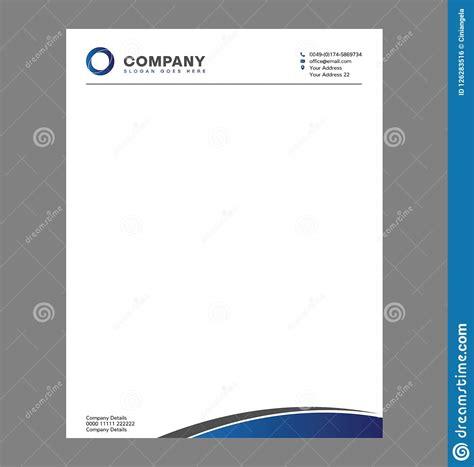 blank letterhead template  print  logo stock vector