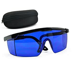 Blue Safety Glasses 590nm-690nm Red Green Yellow Laser Eye