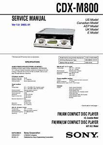 Sony Cdx M800 Wiring Diagram