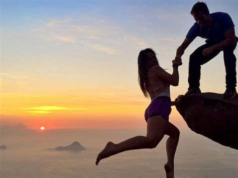 Brazilian Couple's Frightening Cliffhanging Photos Will