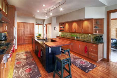 kitchen islands with sink cherry wood countertop raised bar in pennsylvania