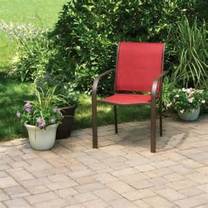 mainstays stacking sling chair red paprika patio