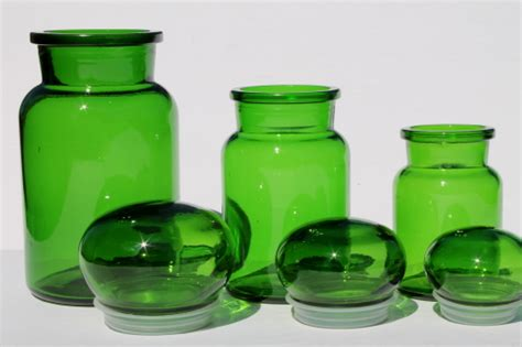 glass kitchen canisters airtight mod vintage green glass kitchen canisters airtight seal