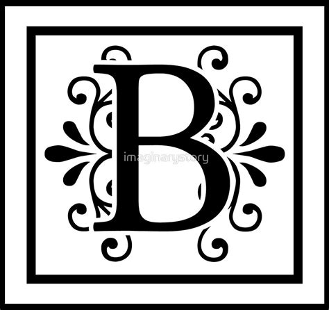 quot letter b monogram quot by imaginarystory redbubble