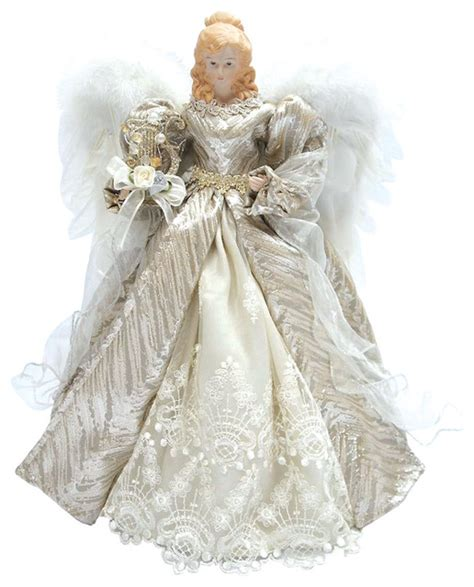 Christmas Tree Toppers Angels by 16 Quot Silver Elegant Angel Tree Topper Traditional