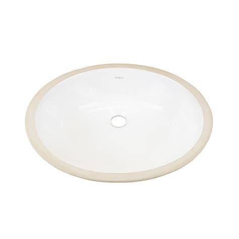 ronbow oval undercounter ceramic vessel sink in white