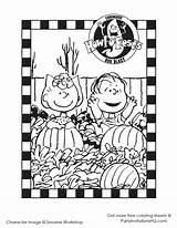 Coloring Halloween Printable Charlie Brown Pumpkin Snoopy Peanuts Fall Hallowen Sally Cartoon Age Birthday Linus Crafts Thanksgiving Sheets Disney Ages sketch template