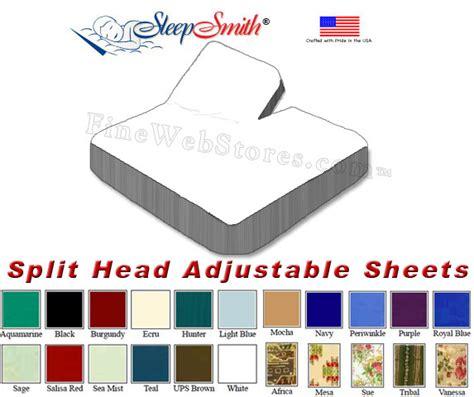 split king sheets for adjustable beds eastern king size