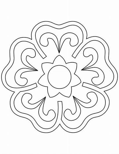 Rangoli Coloring Flower Blooming Drawing Pages Patterns