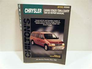 Purchase Chilton Chrysler Caravan  Voyager  Town  U0026 Country