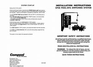 Pool-spa Switching System Cp30 Manuals