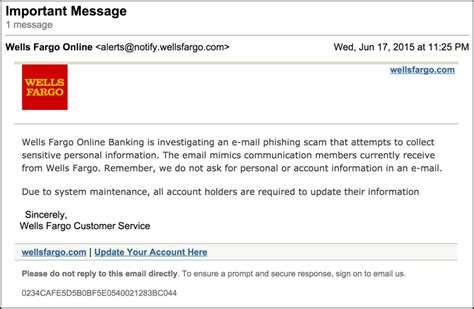 Beware The Wells Fargo Phishing Scam Scam!  Ask Dave Taylor
