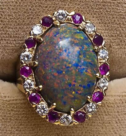 Jewelry Simple Making Opal Ring Ruby Diamond