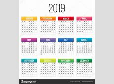 Creative vector illustration of 2019 year colorful