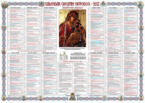 calendar crestin ortodox seimado