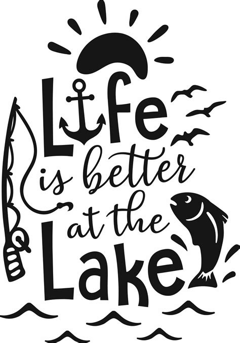 Svg files, especially those exported from various editors, usually contain a lot of redundant and useless information. Free Life is Better at the Lake SVG Cut File | Craftables