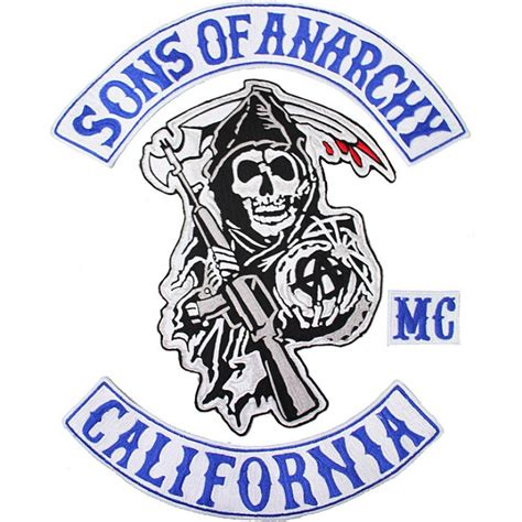 sons of anarchy patches sons of anarchy reaper top bottom rocker patch