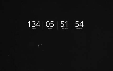 Animated Countdown Wallpaper - how to create a countdown timer with a screen
