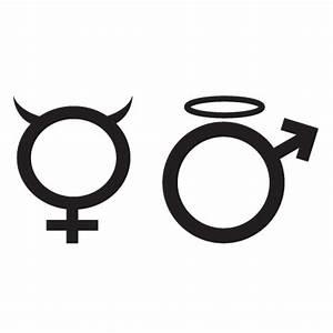Sigle Homme Femme : stickers symbole homme femme stickers malin ~ Melissatoandfro.com Idées de Décoration