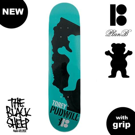 Grizzly Grip Decks by Plan B Torey Pudwill X Grizzly Grip 7 75 Quot Skateboard Deck