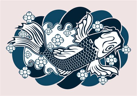 japanese tattoo design   vector art stock