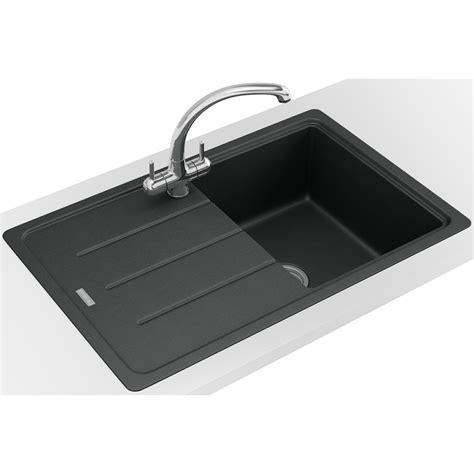 franke composite kitchen sinks franke basis bfg 611 780 fragranite onyx 1 0 bowl inset 3520