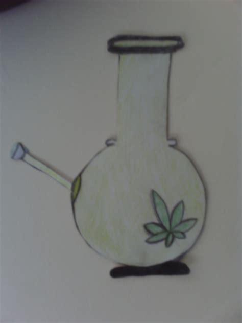 marijuana bong drawing laurenxlouise   aug