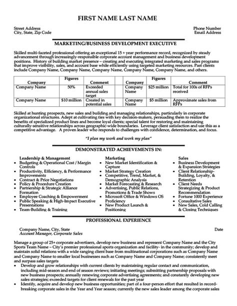 business development executive resume template premium