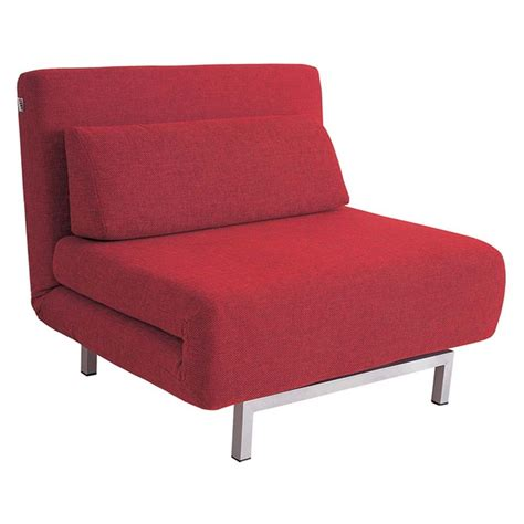 j m red or grey fabric sleeper chair chaise