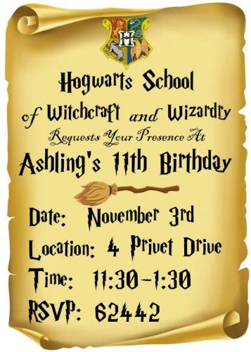 printable harry potter invitations fun money mom