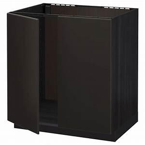 Ikea Metod Unterschrank : metod unterschrank f r sp le 2 t ren schwarz ~ Watch28wear.com Haus und Dekorationen