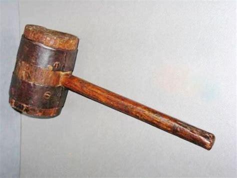 antique  rare european hand  blacksmith hammer