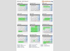 Kalender 2019 + Ferien Bayern, Feiertage