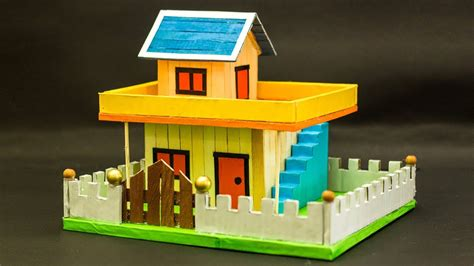 popsicle stick house simple craft ideas