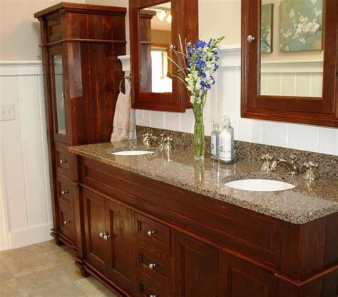 Reclaimed Vanity Bathroom by Crafted Antique Reclaimed Wood Vanity By Vienna
