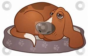 Dog Sleeping In Bed Clipart